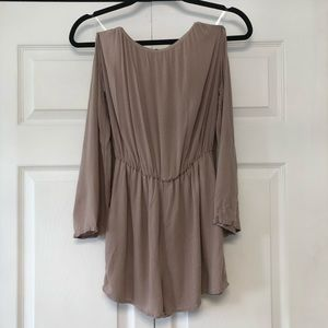 Necessary Clothing Taupe Cold Shoulder Romper